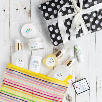 Travel Skincare Pack With 6 Products Shown As Gift