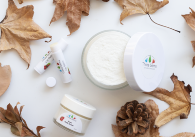 Three Gems Body Butter And Lip Balm For Autumn Skincare