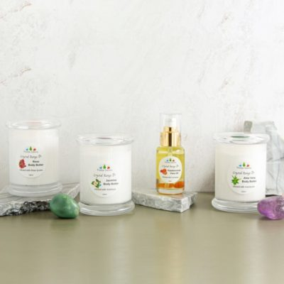 Body Butter And Face Oil Infused With Crystals